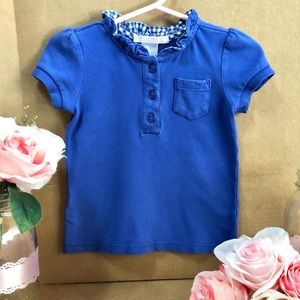 ⬇️$26 Janie and Jack Ruffle Button Top 18M Blue